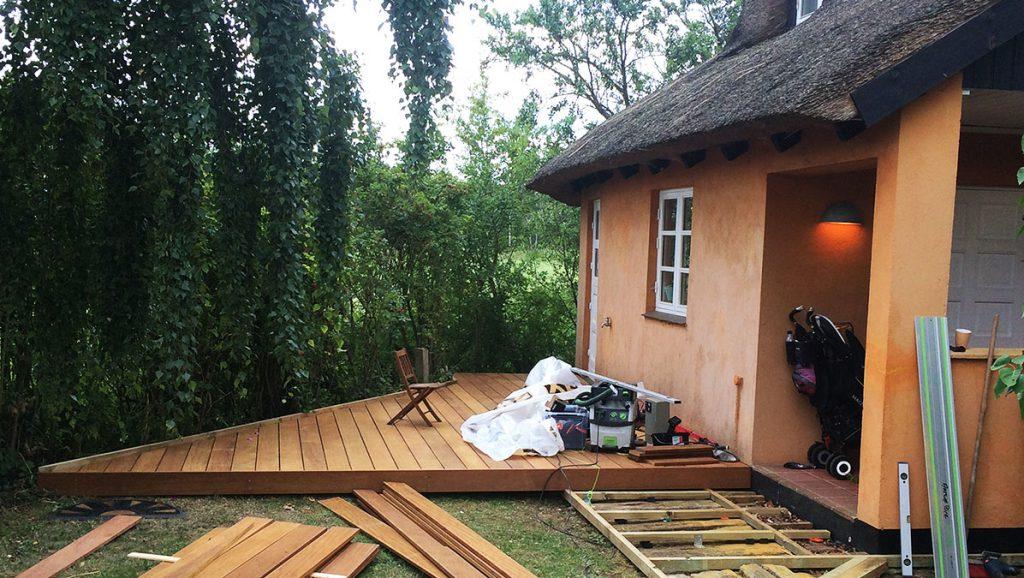 Terrasse af træ